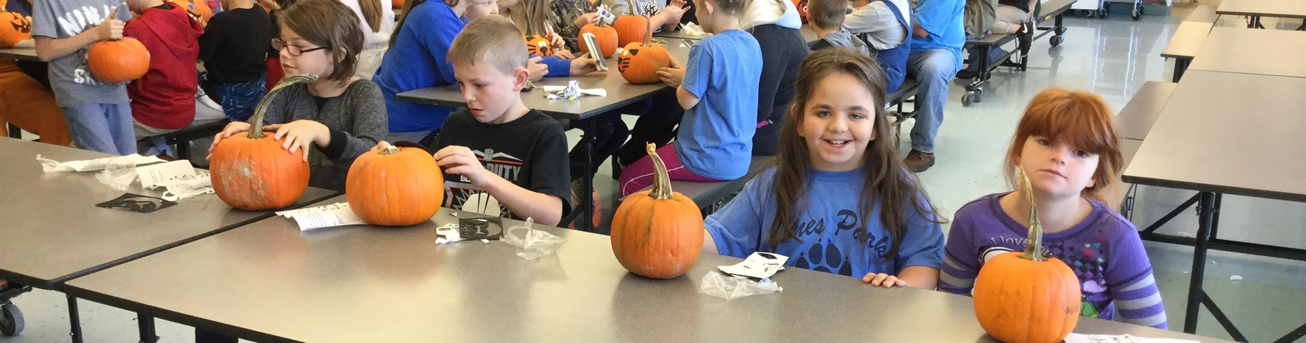 JPE kids with their pumpkins.