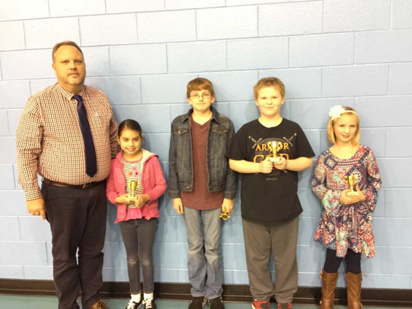 Students at LES recognized for Outstanding Achievement at the November Board Meeting.