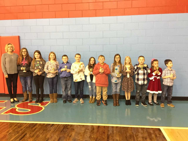 Students at WHE recognized for Outstanding Achievement at the November Board Meeting.
