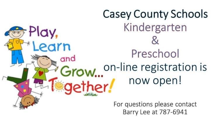Kindergarten and Preschool Registration