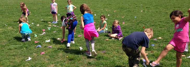 JPE students learn about animal adaptations by catching butterflies!