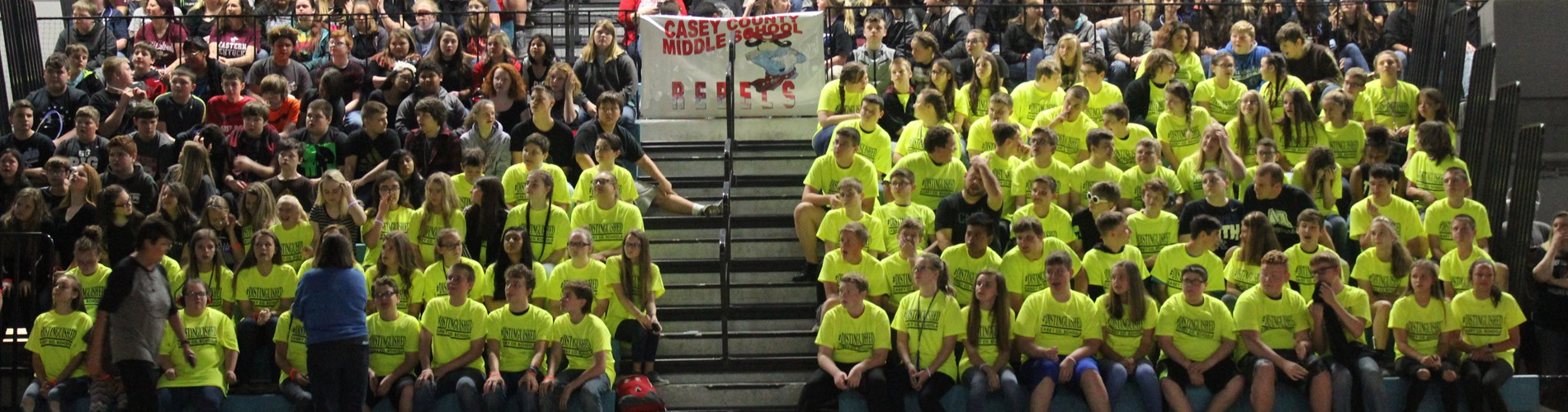 Casey County Middle School rocking the Distinguished shirts!