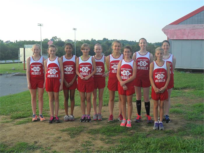 2014 2015 Lady Rebels Cross Country Team